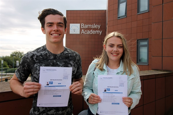 Students celebrate GCSE success at Barnsley Academy